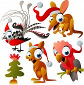 vector christmas australian animals