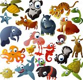 picture of cartoon character  - big vector animal set - JPG