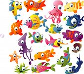 extra big vector fish set