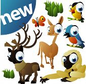 image of caribou  - vector animal set 252 - JPG