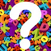 stock photo of question-mark  - abstract background with letters and question mark - JPG