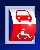 Постер, плакат: Инвалидность и автомобилей символы