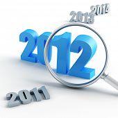Постер, плакат: Новый 2012 год под масштаб и другие годы