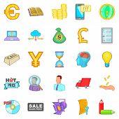 Phishing Icons Set. Cartoon Set Of 25 Phishing Vector Icons For Web Isolated On White Background poster