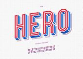 Vector Hero Typeface Trendy Typography Colorful Style For Decoration, Logo, Party Poster, T Shirt, B poster