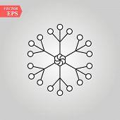 Snowflake Icon, Snowflake Icon Vector, In Trendy Flat Style Isolated On White Background. Snowflake  poster