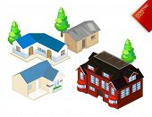 Isometric Objects Vector. Isometric Series. Compose Your Own World Easily with Isometric Works.