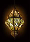 stock photo of crescent  - Illustration of stylish Arabic Lantern Ideal for Ramadan concept - JPG