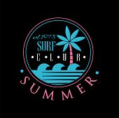 Surf Club, Summer Logo Est 1978, Creative Badge Can Be Used For Surf Club, Shop, T Shirt Print, Embl poster