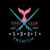Surf Club Premium Logo Est 1969, Creative Badge Can Be Used For Surfing Club, Shop, T Shirt Print, E poster