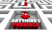 Anythings Possible Believe Hope Faith Maze 3d Illustration poster