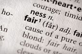 Dictionary Series - Philosophy: Fair