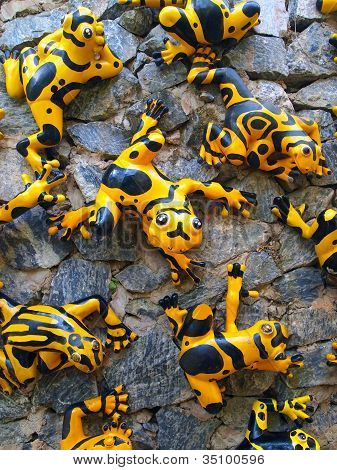 Funny Yellow Frogs