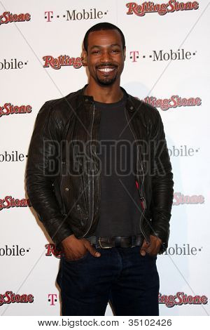 LOS ANGELES - FEB 26:  Isaiah Mustafa  arrives at the Rolling Stone Pre-Oscar Bash 2011 at W Hotel on February 26, 2011 in Hollywood, CA