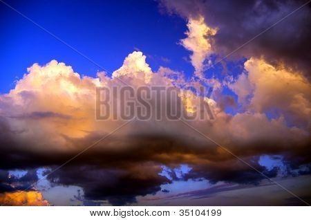 Thunderclouds Of A Coming Nearer Storm