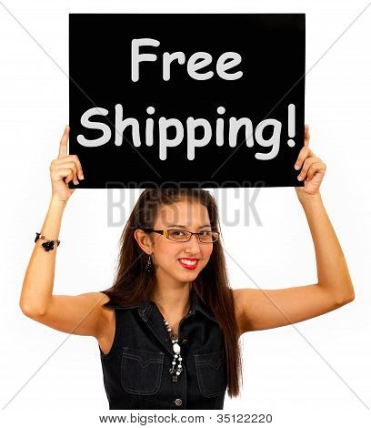 Free Shipping Board Shows No Charge To Deliver