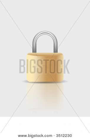 Vector Padlock Illustratiion