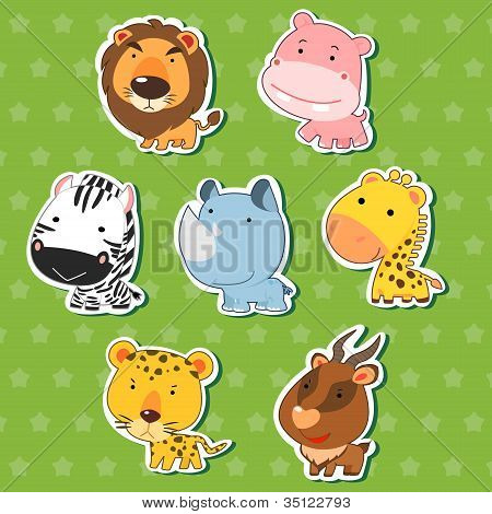 Cute Animal Stickers 09