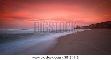Gibson Steps sunrise at sand level of Twelve Apostle, Great Ocean Road, VIC, Australia