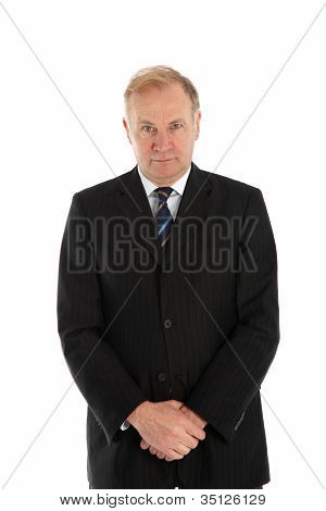 Man Standing With Hands Folded