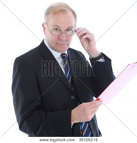 Businessman With Assessing Look
