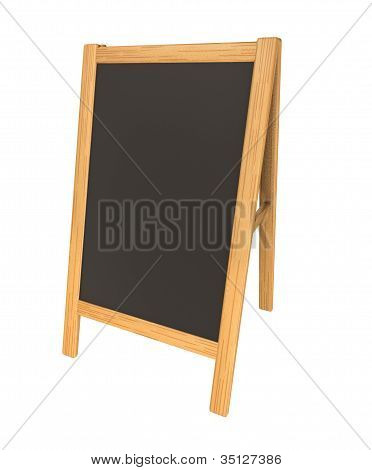 Wooden Menu Board  Isolated On White