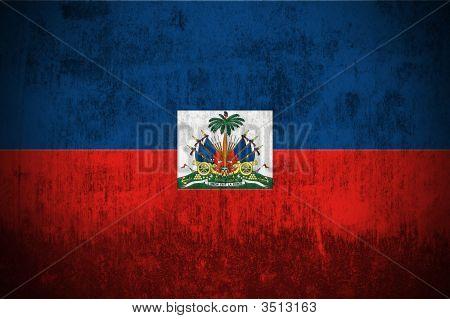 Bandeira do grunge do Haiti