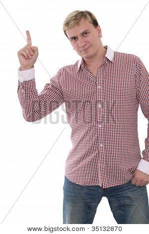 Man With Eureka Sign