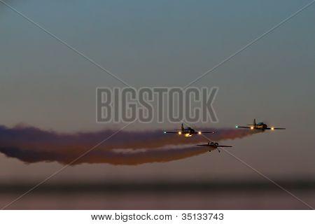Evening Air Performance at Bucharest International Air Show