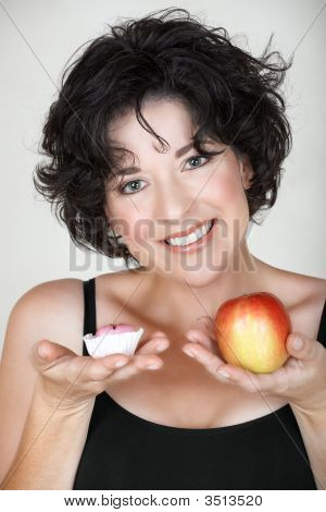 Woman With Apple And A Cake