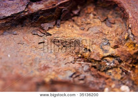 Close-up Of Rust Texture