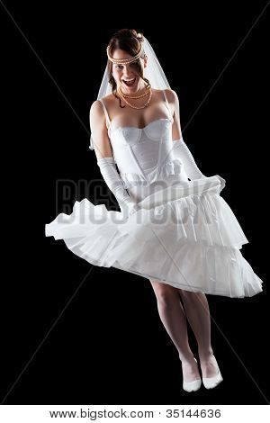 schöne sinnliche Braut in Dessous