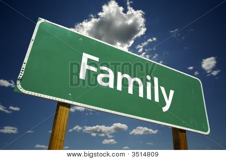 Family Road Sign