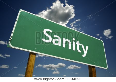 Sanity Road Sign