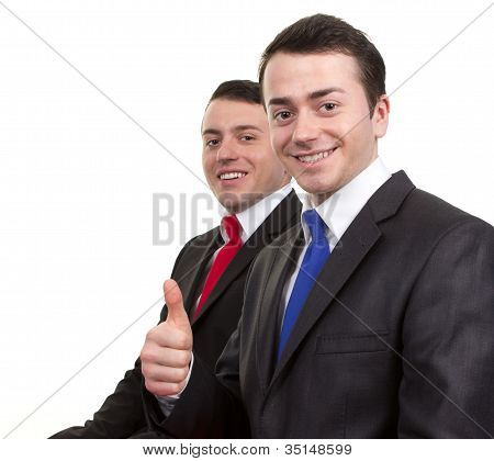 Two Happy Businessmen