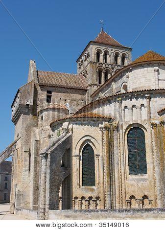 Fortified Saint Jouin  Abbey Church, France