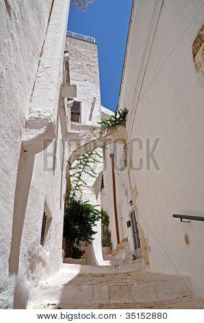 Ostuni alley the White City