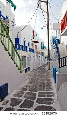 Alleyway In Mykonos