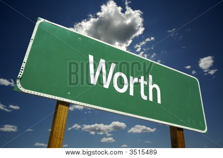 Worth Road Sign