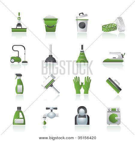 Reinigung und Hygiene-Symbole