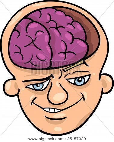 Brainy Man Cartoon