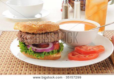 Soup And Hamburger