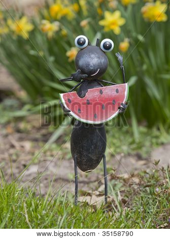 Ant Eating Watermelon Garden Statue