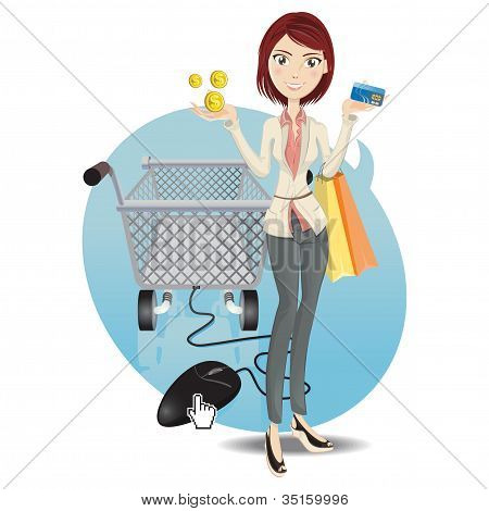 Online Shopping Girl