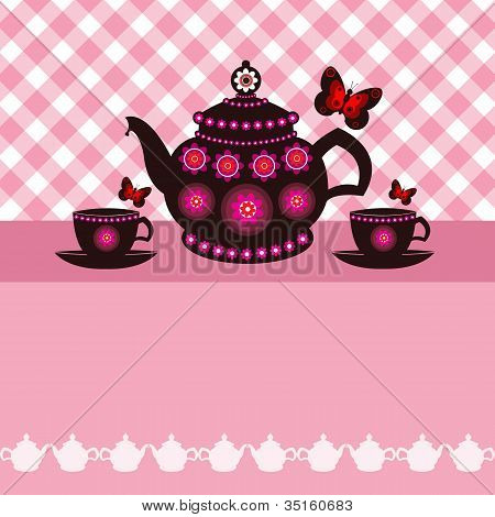 Tea Pot And Tea Cups