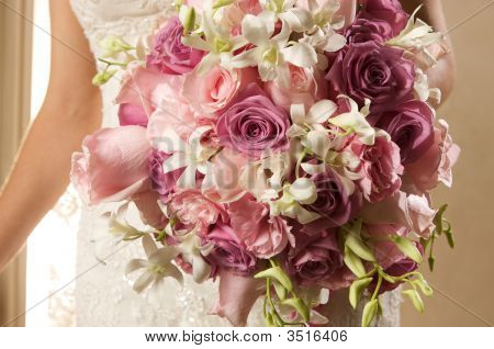 Bride With Flower Bouquet (Landscape)