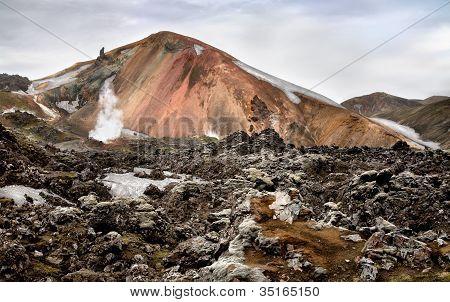 Multicolored Rhyolite Mountain