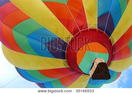 Hot Air Balloon Taking Off