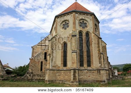 Cistercian church from Carta village