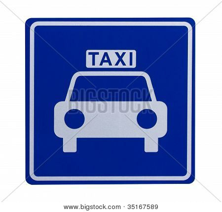 Road Sign Indicating A Taxicab Stand